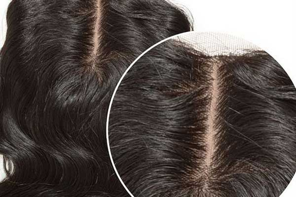 Silk base hair closure body wave